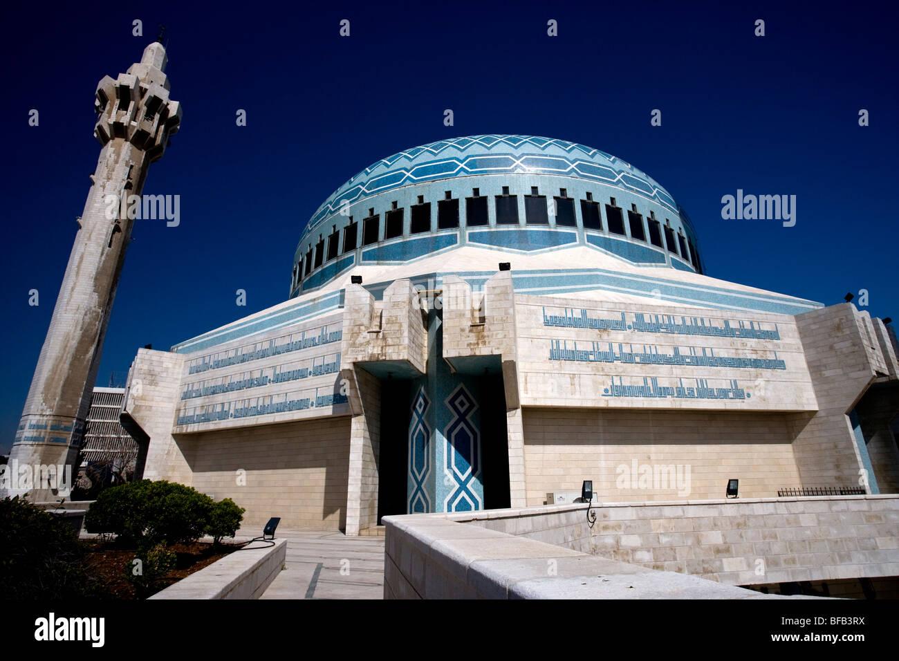 King Abdullah Mosque, El-Abdali district, Amman, Jordan - Stock Image