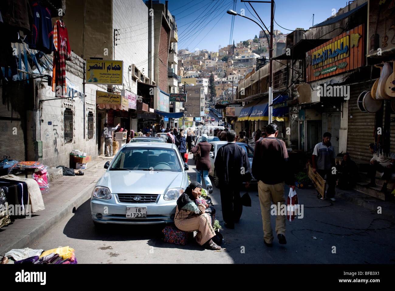 Side street markets, Downtown Amman, Jordan - Stock Image