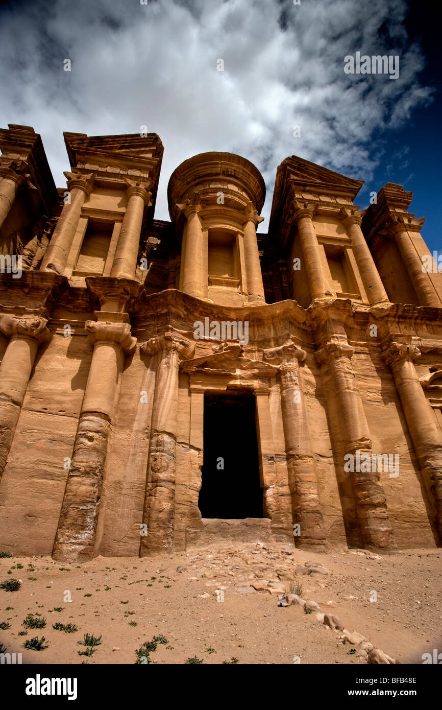 Ad-Deir Monastery, Petra, Jordan - Stock Image