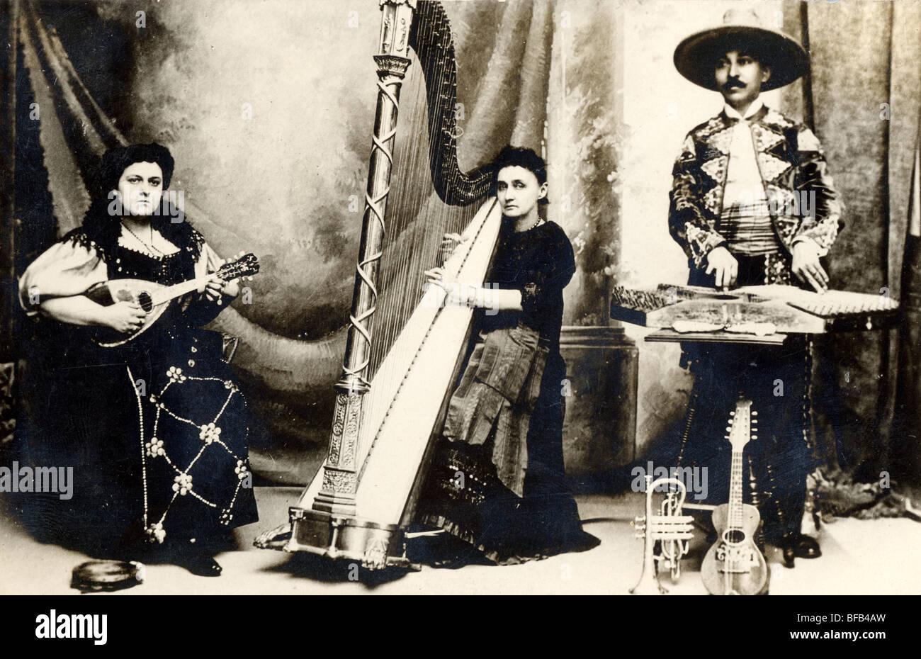 Three Person Ethnic Musical Ensemble - Stock Image