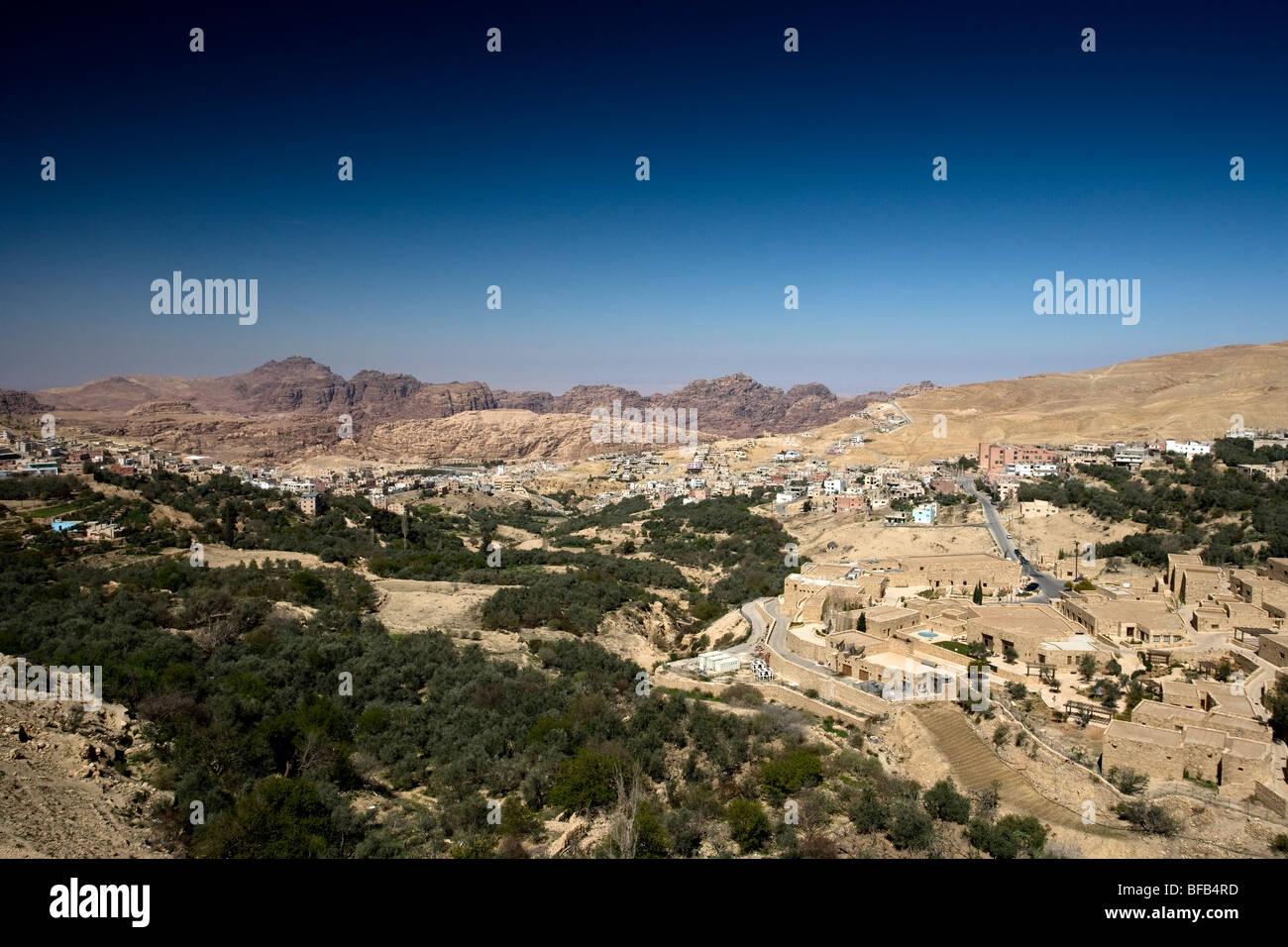 Wadi Musa, town near Petra, Jordan - Stock Image