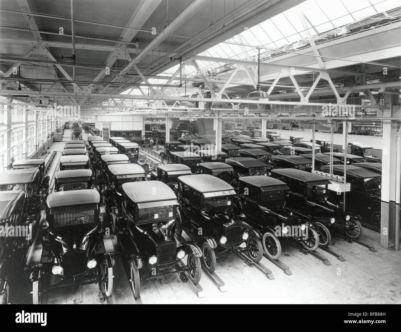 Final Assembly of Mass Produced Autos - Stock Image