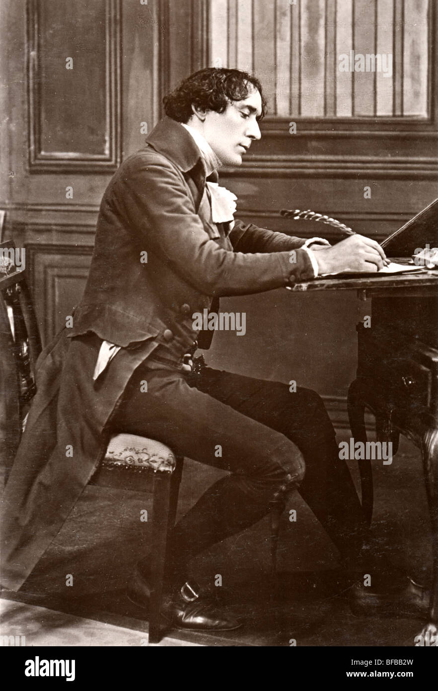 H B Irving Writing With Quill Pen At 19th Century Desk