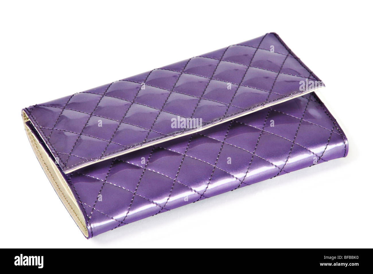 Women personal accessory violet purse - Stock Image