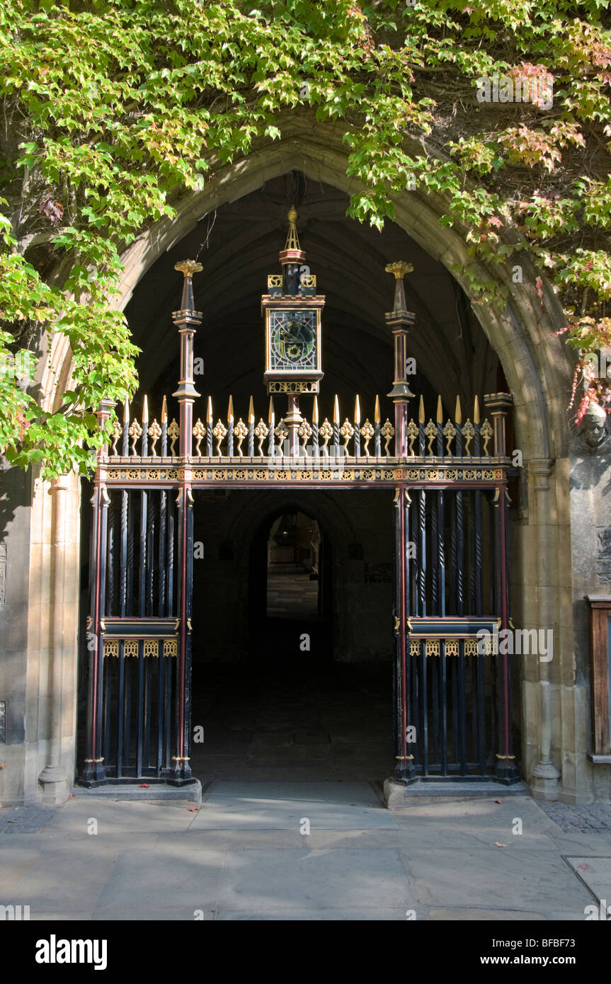Entrance through Deans Yard to Westminster Abbey Cloisters, London - Stock Image