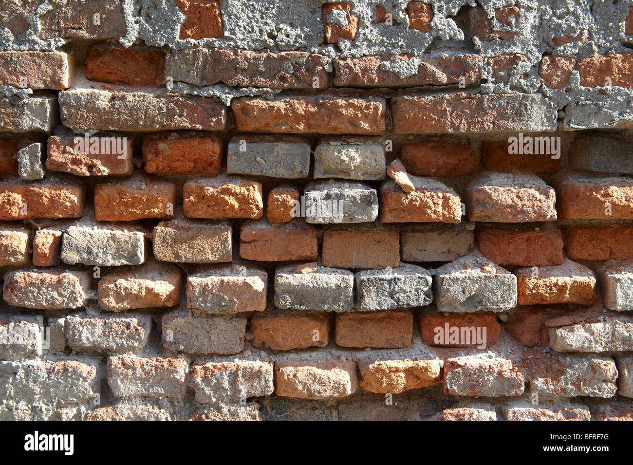 Urban textures - Red brick wall - Stock Image