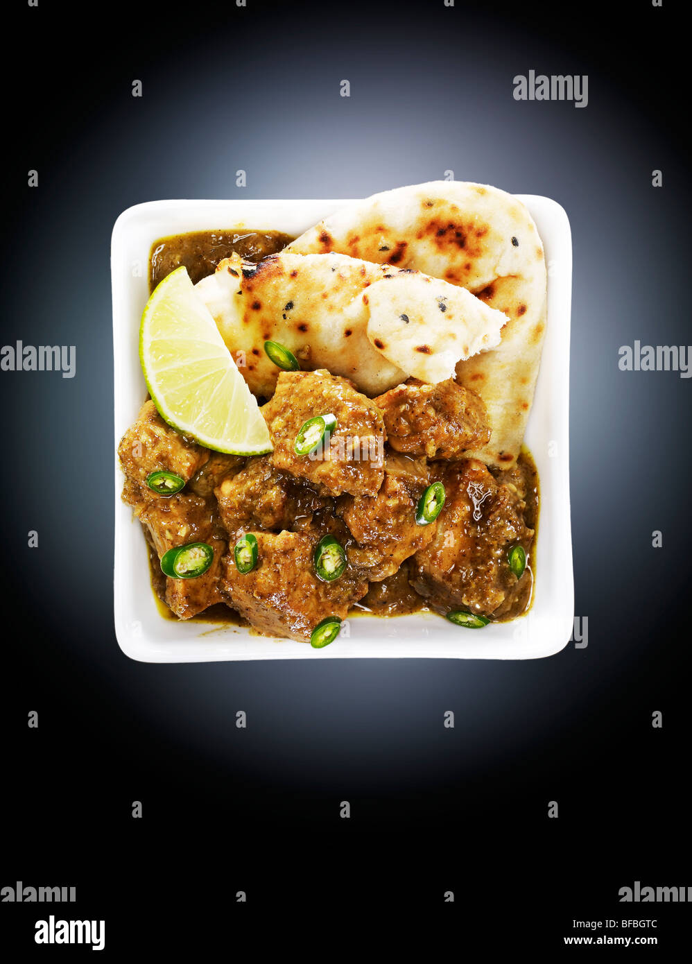 Beef curry, with chill, pepper and cardamom. - Stock Image