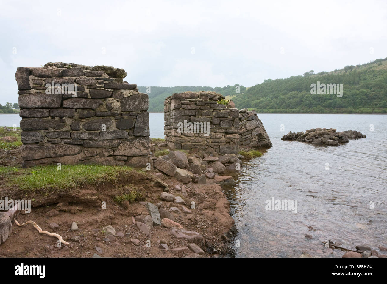 View of Talybont Reservoir, Brecon Beacons National Park - Stock Image