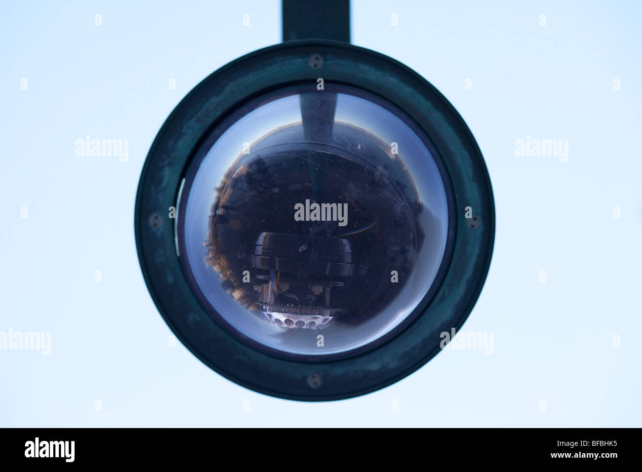 Security camera dome at the Sydney Opera House - Stock Image