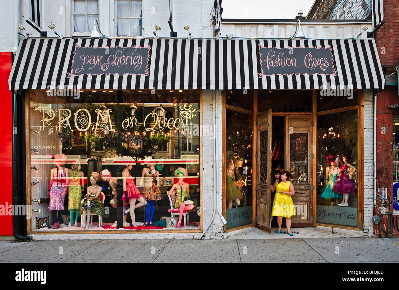 Clothing boutique store in Toronto, 'Pam Chorley', 'Fashion Crimes' - Stock Image
