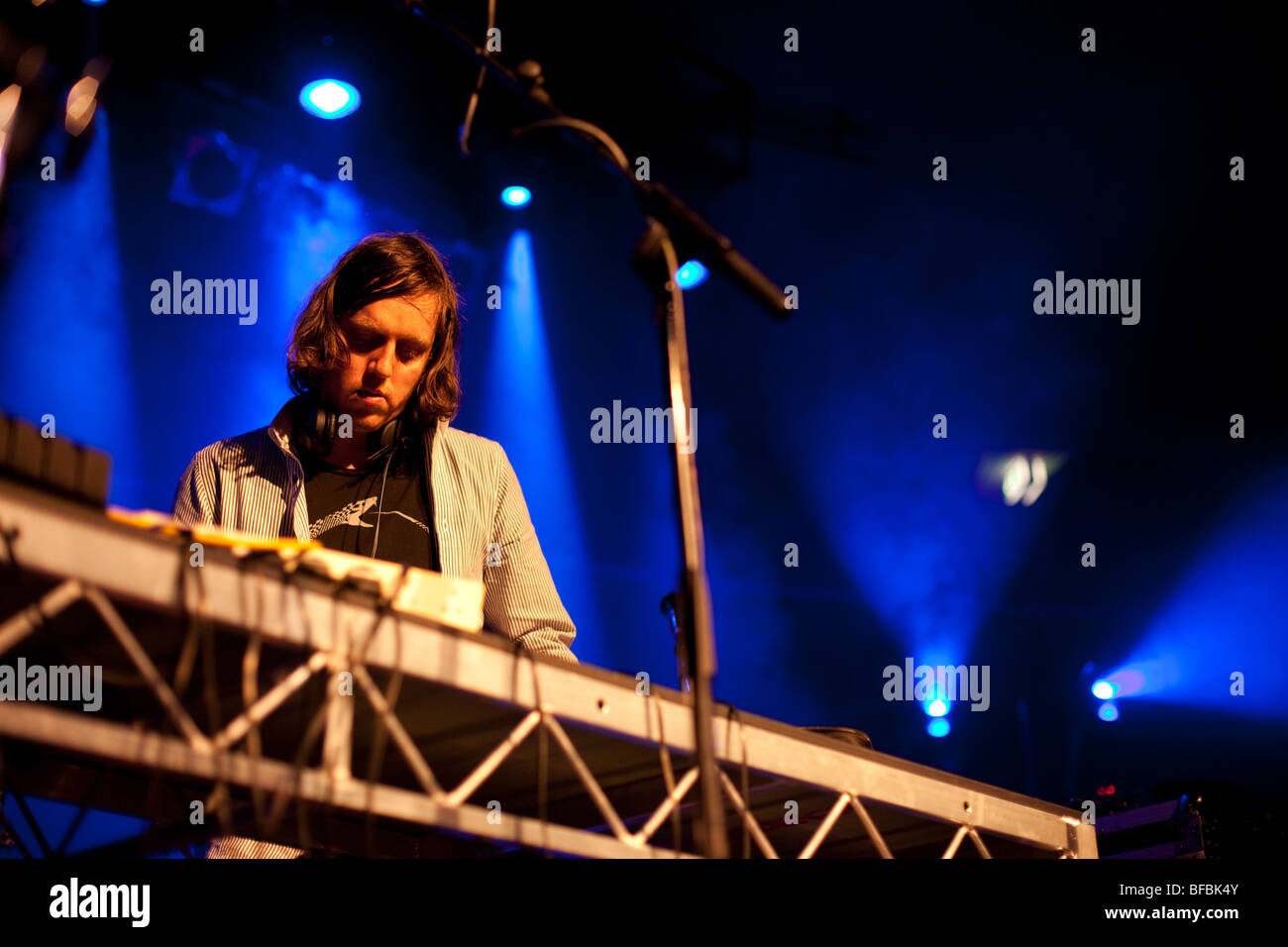 DJ AJAX performs at the UNSW Roundhouse - Stock Image