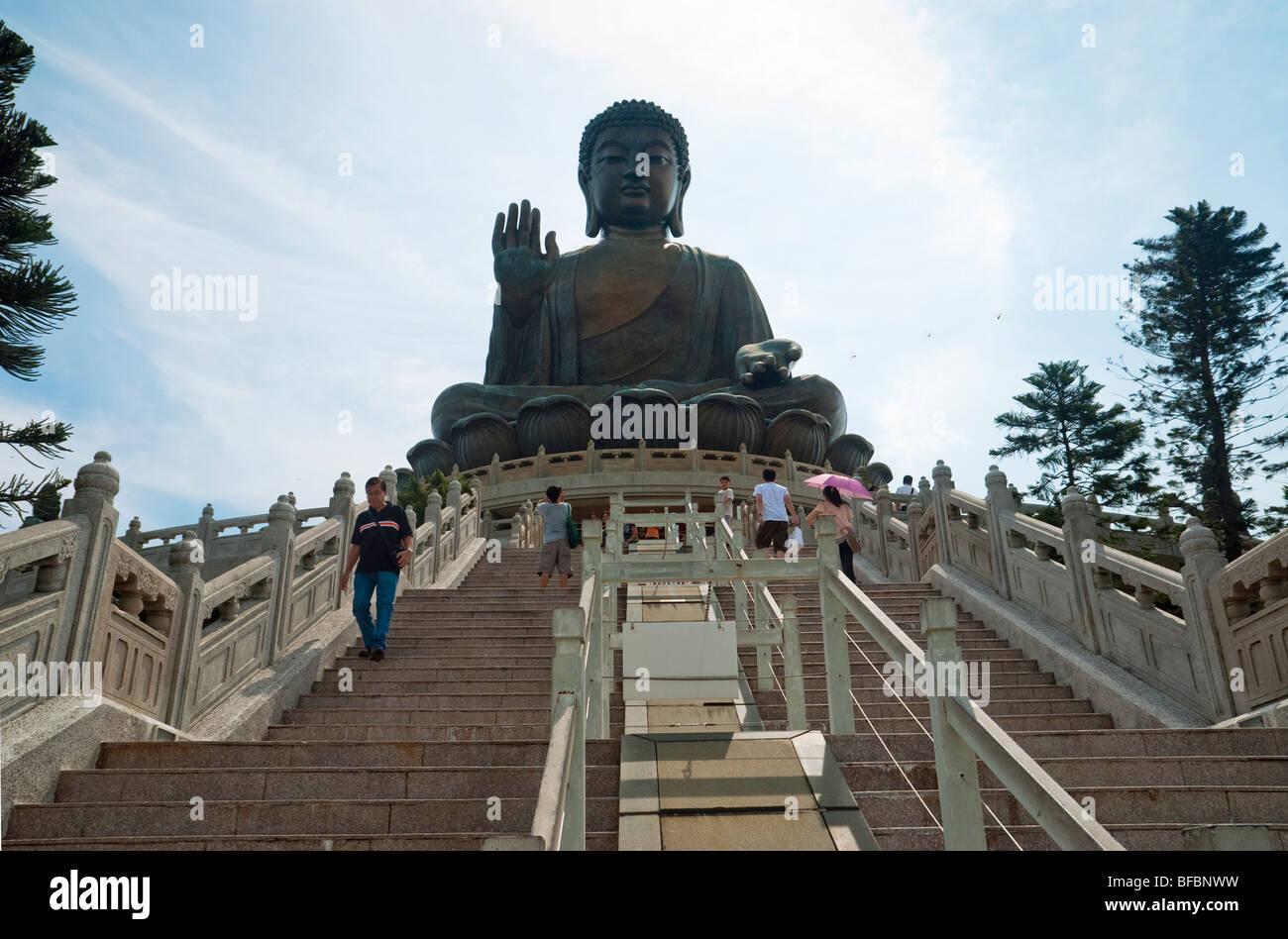 Tian Tan Big Buddha, Lantau island, Hong Kong - Stock Image
