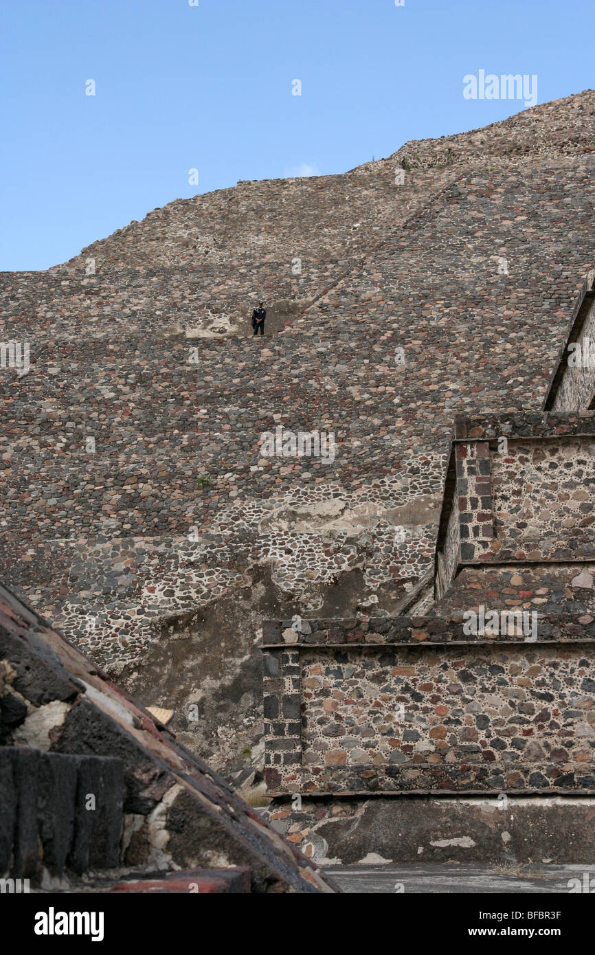 Teotihuacan ruins in Mexico. - Stock Image