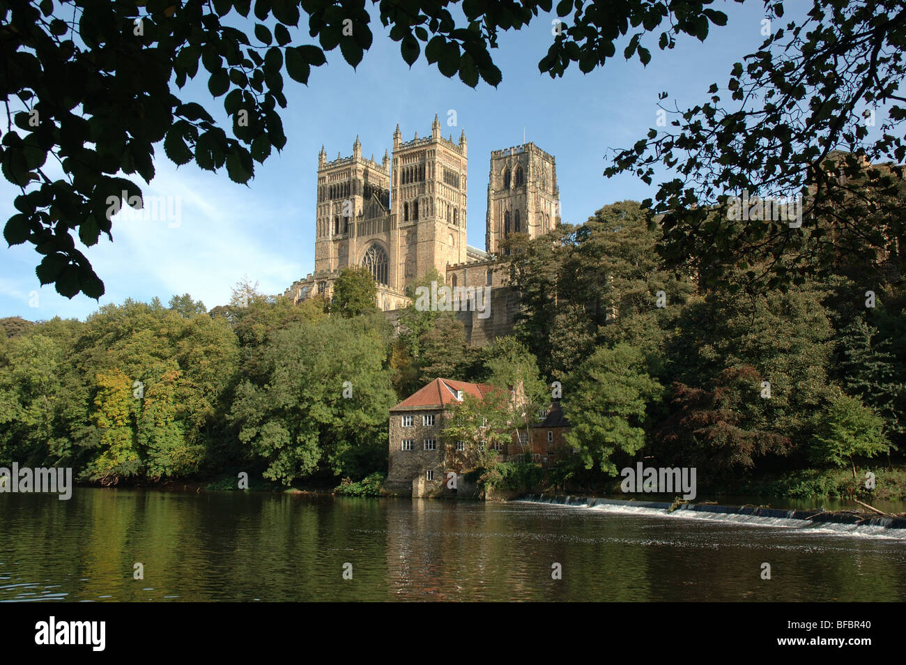 Durham Cathedral and the River Wear, Durham, England, UK Stock Photo