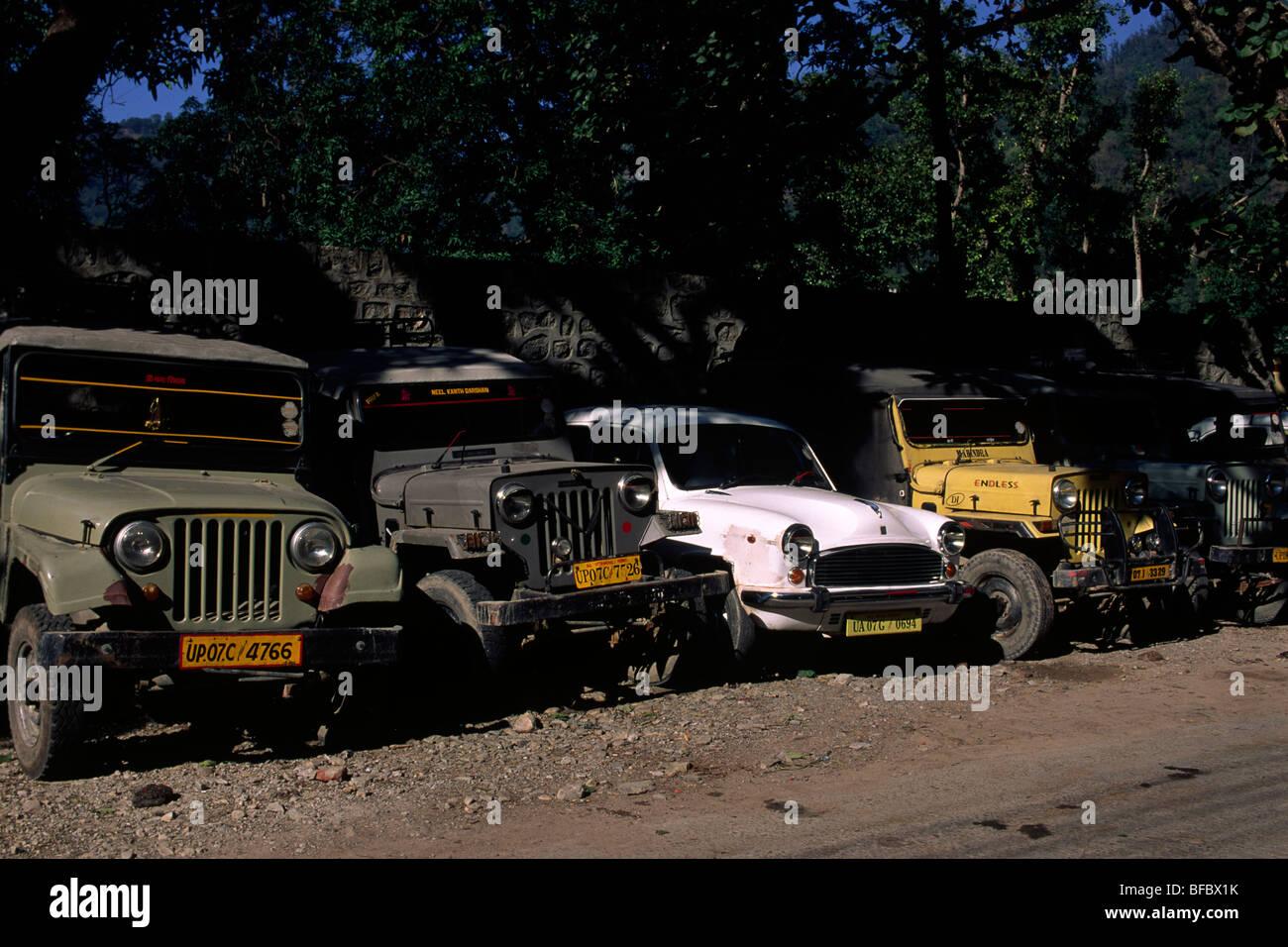 india, india, rishikesh, cars - Stock Image