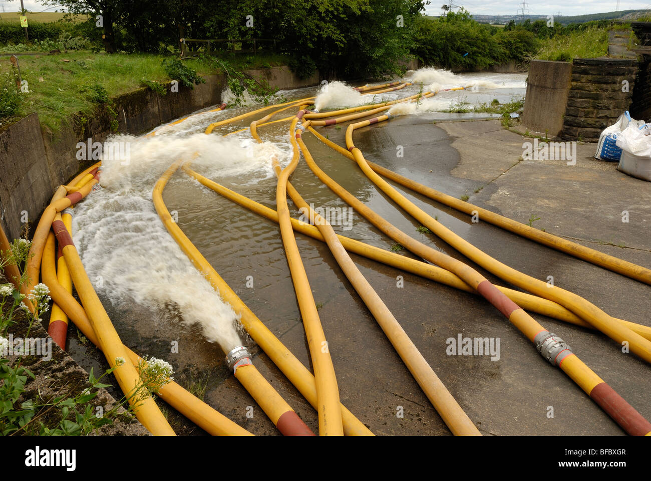 Fire Amp Rescue Service High Volume Pumps And Hose Used To