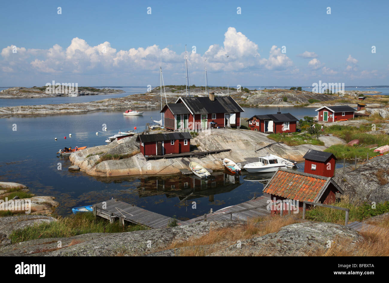 Small old village on island - Stock Image