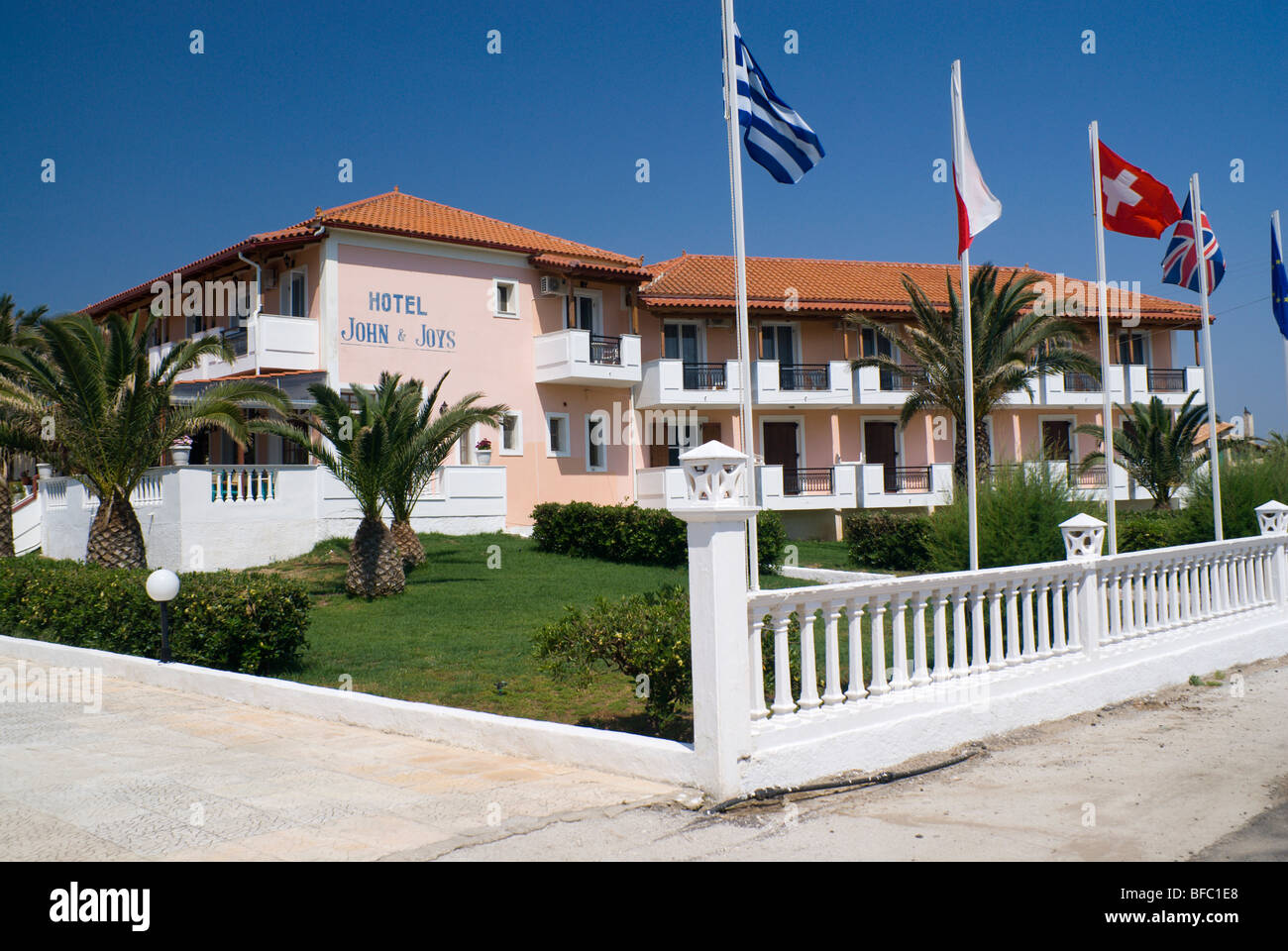 hotel john and joy kalmaki zakynthos / zante island part of the ionian islands greece - Stock Image