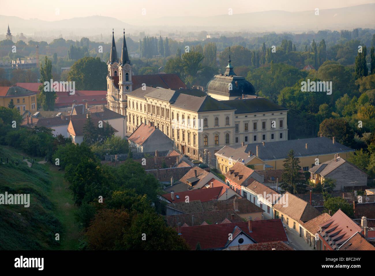 The Baroque Jesuit church and museum, Esztergom, Hungary - Stock Image