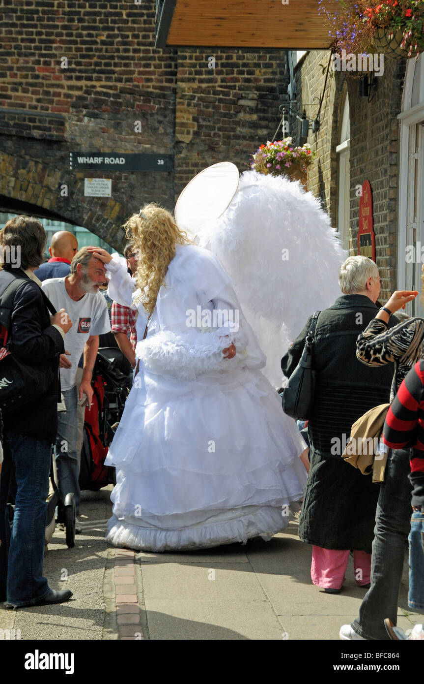 Angel Glide Fairy at the Angel Festival London England UK - Stock Image