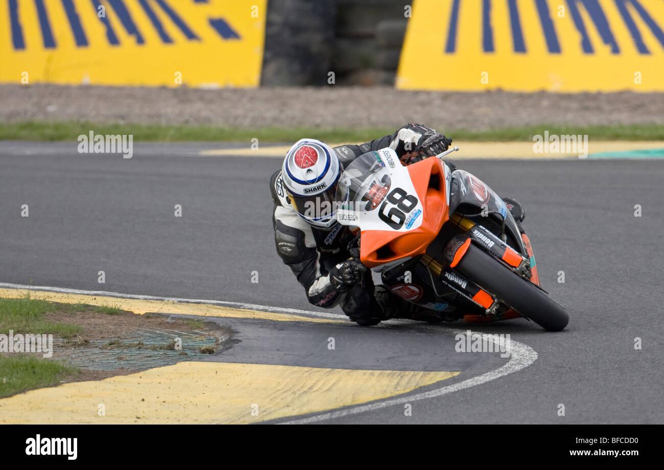 David Johnson - Team Maxxis Adept Yamaha YZF-R1 - British Superbike Championship 2009 - Knockhill, Scotland - Stock Image