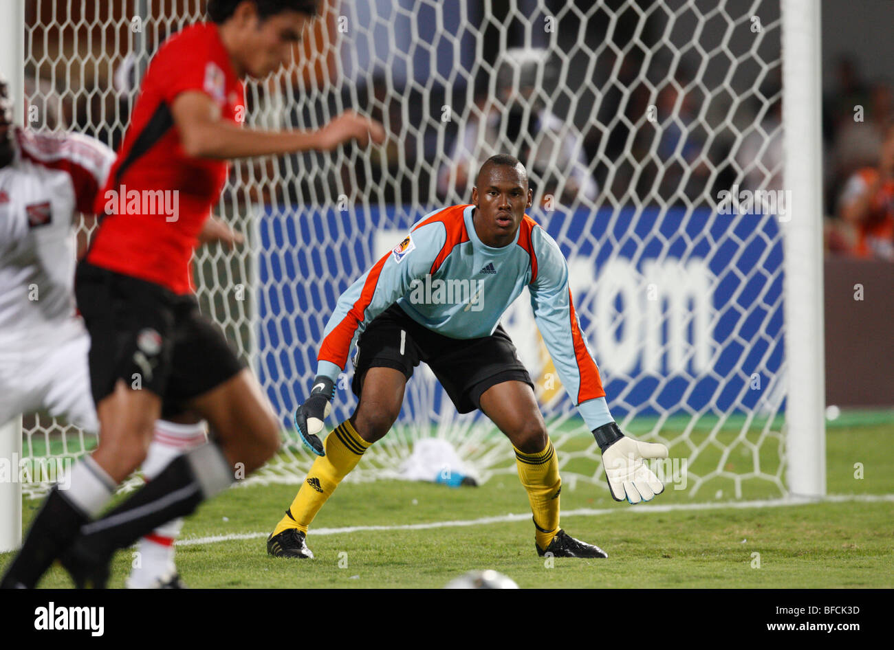 Goalkeeper Glenroy Samuel of Trinidad and Tobago in action during a 2009 FIFA U-20 World Cup soccer match against - Stock Image