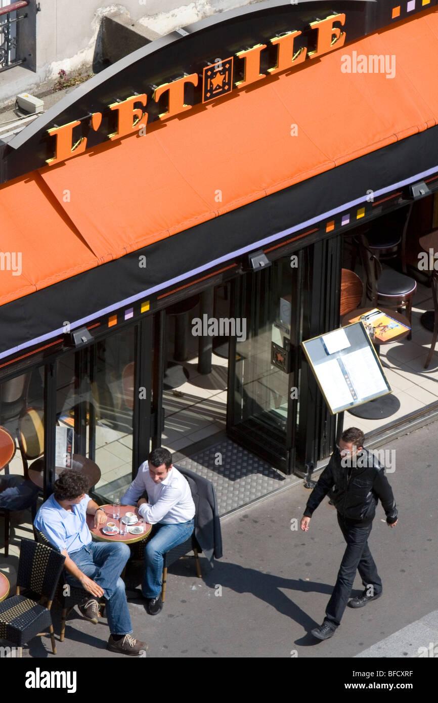 L'Et Ile bistro located in the Latin Quarter, Paris, France. - Stock Image