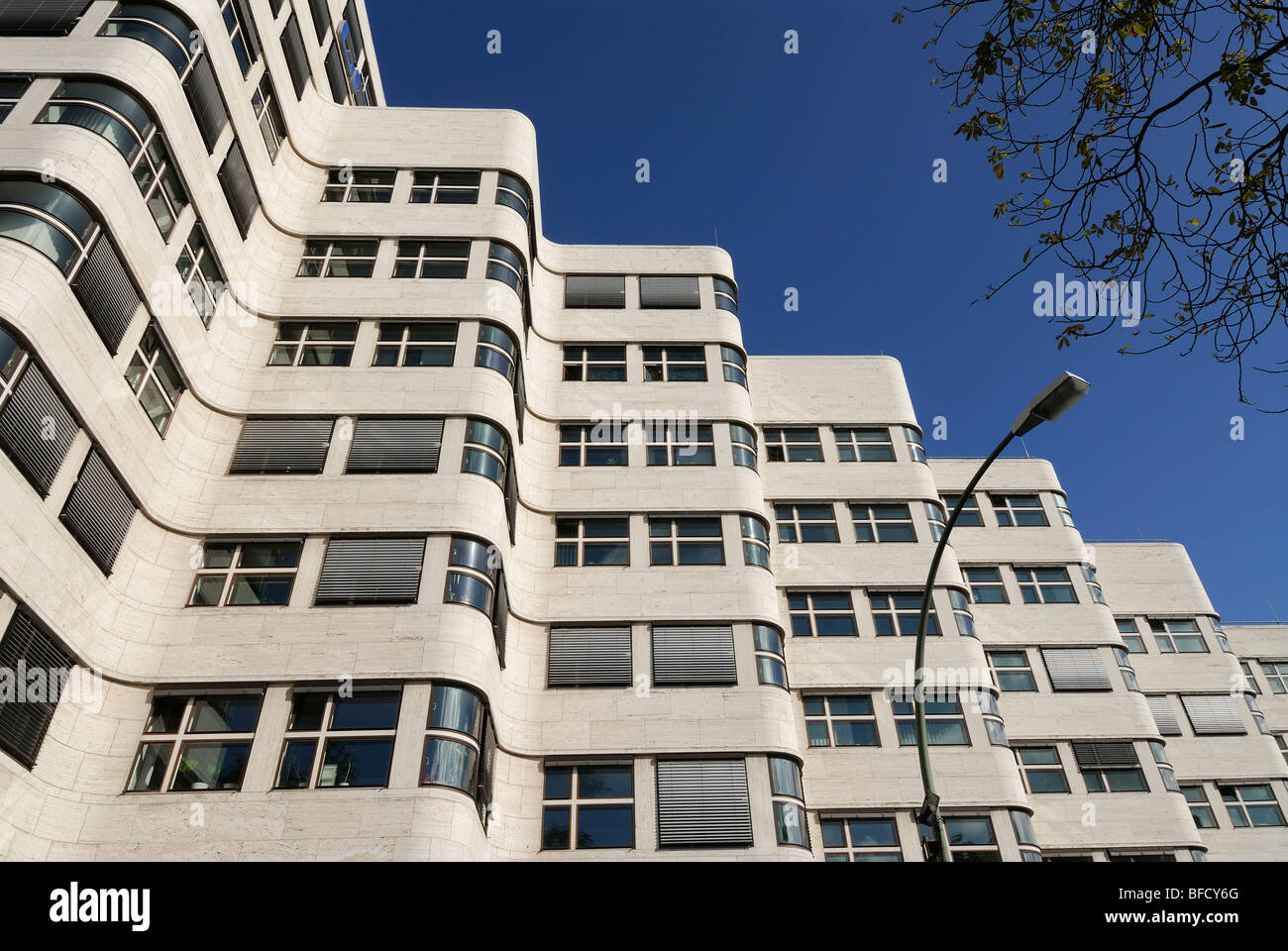 Berlin. Germany. Shell-Haus modernist architectural building 1932. Architect Emil Fahrenkamp. - Stock Image