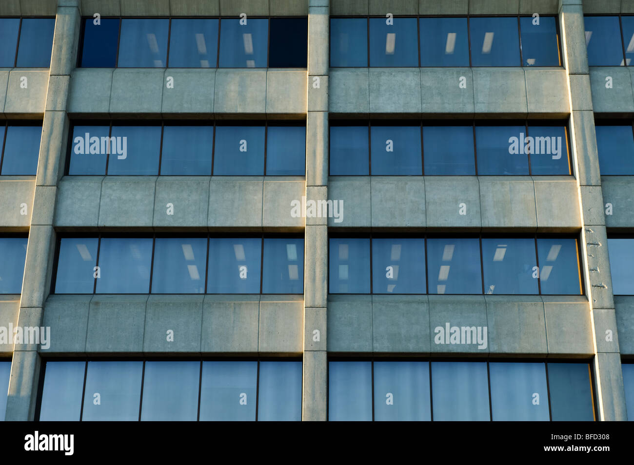 close up of office tower - Stock Image