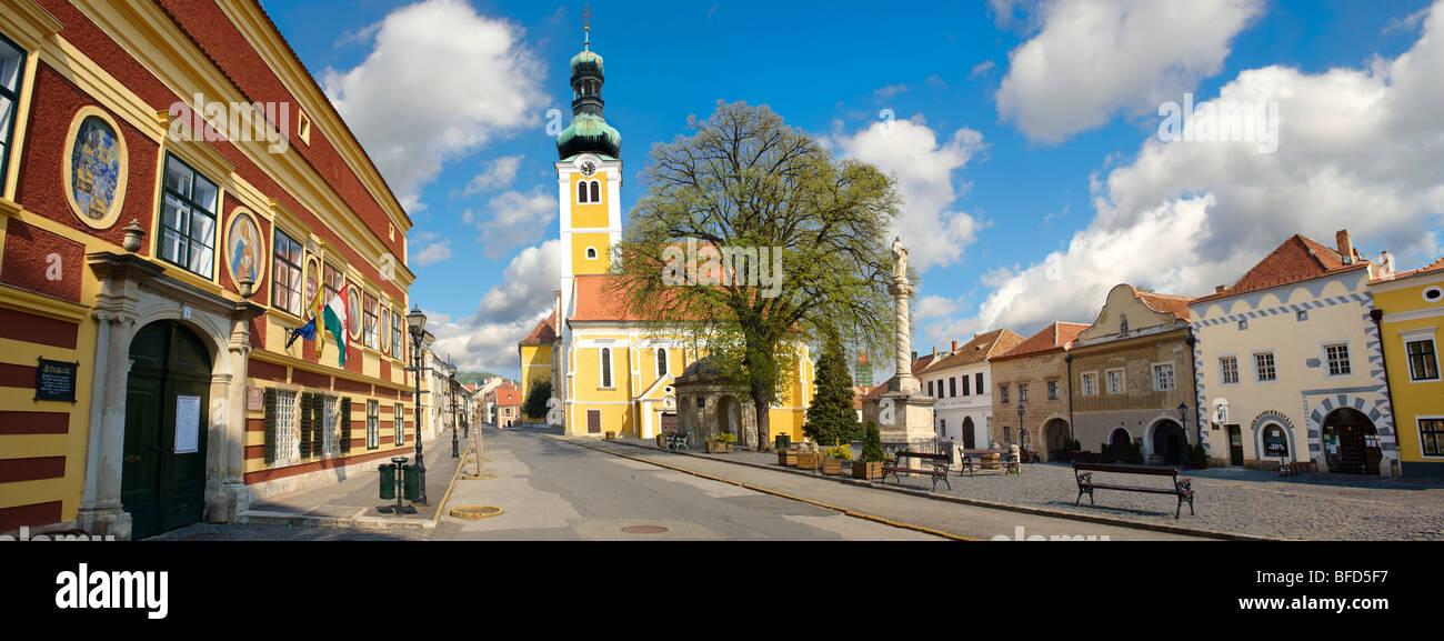 Old Town Square Kőszeg Hungary - Stock Image