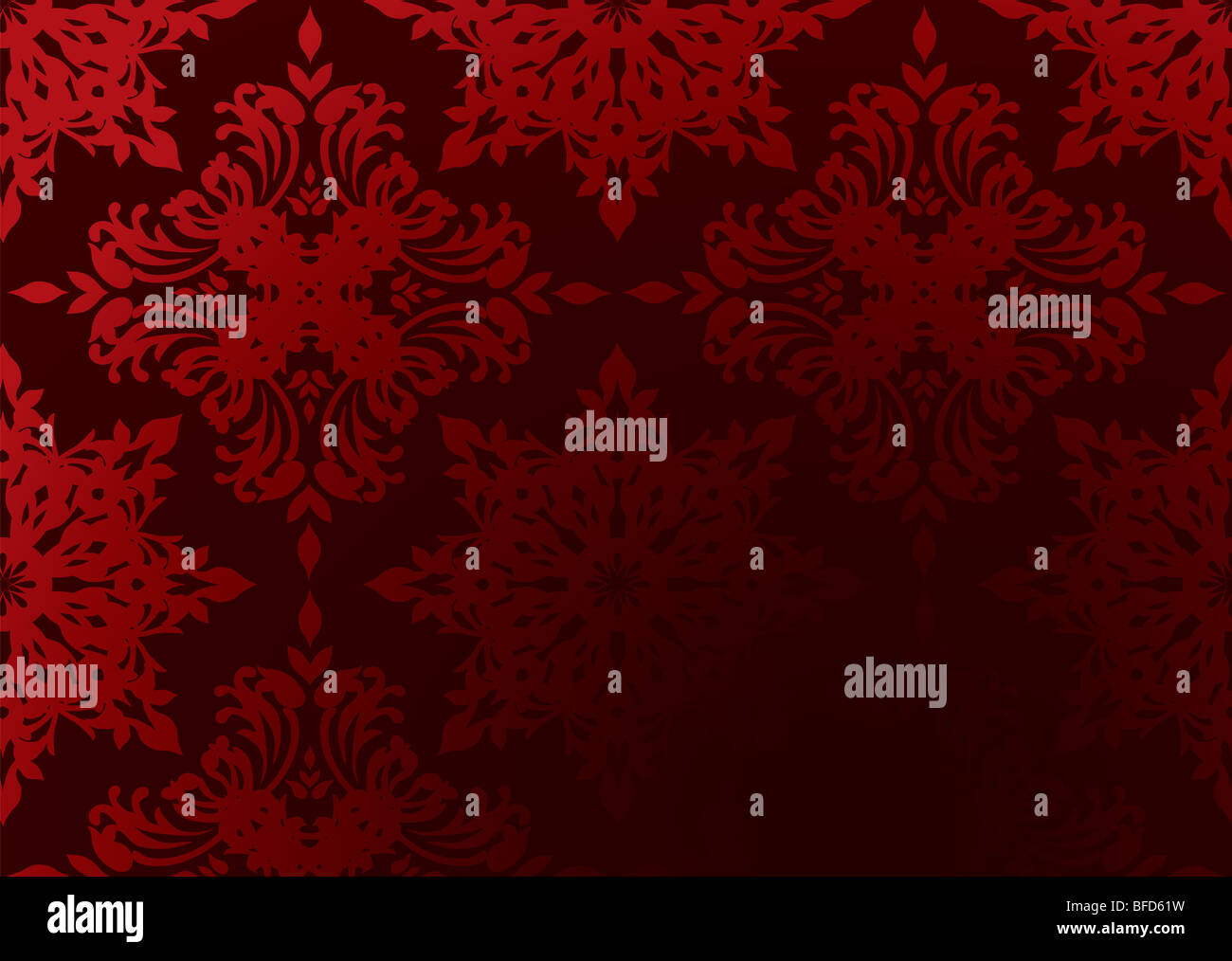 Bright Red Gothic Wallpaper With Gradient Design And Copy Space