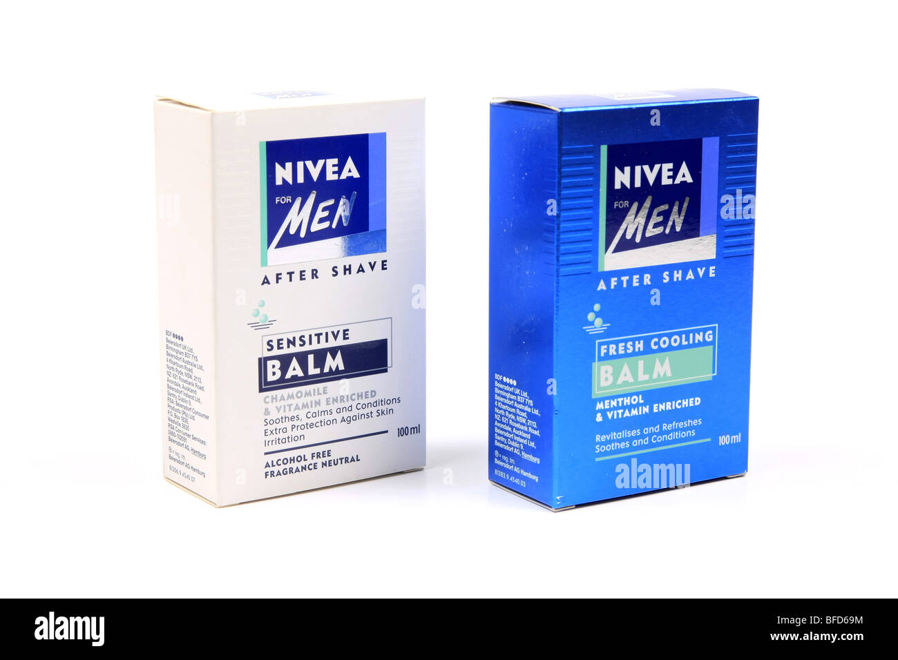 Nivea For men aftershave balm packaging against a white background - Stock Image