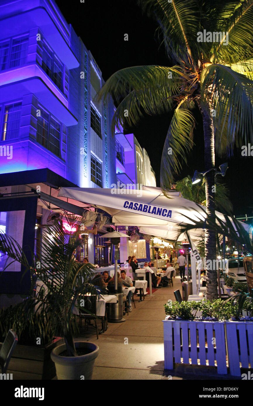 Casablanca Hotel on Ocean Drive, Miami Beach - Stock Image