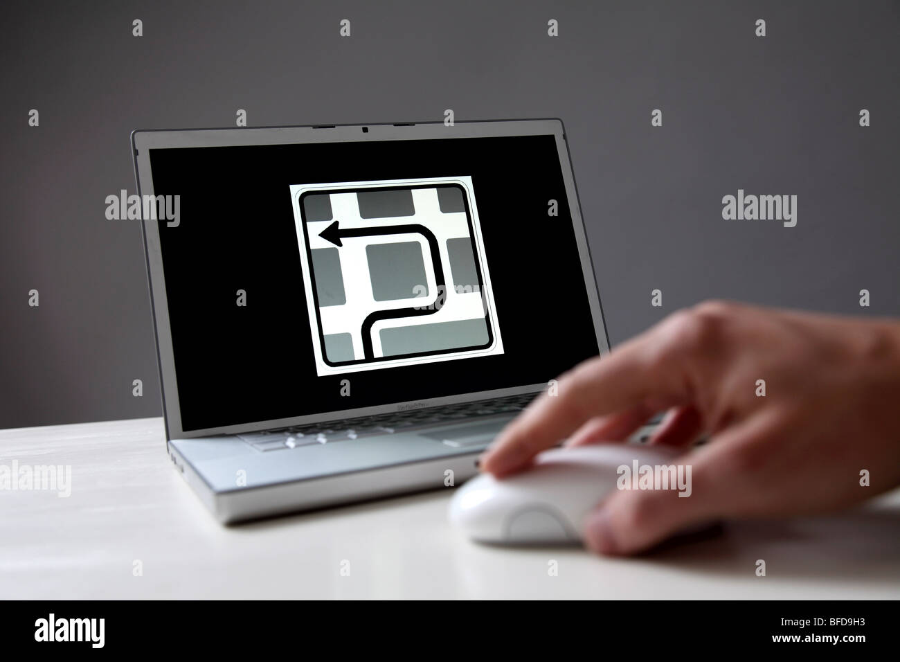Symbol: orientation in the Internet - Stock Image