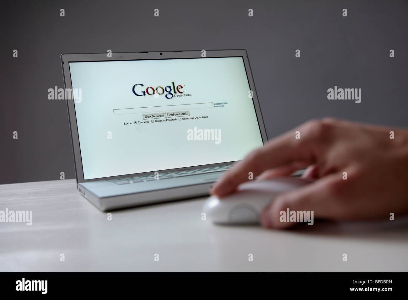 Google online search engine in the Internet - Stock Image
