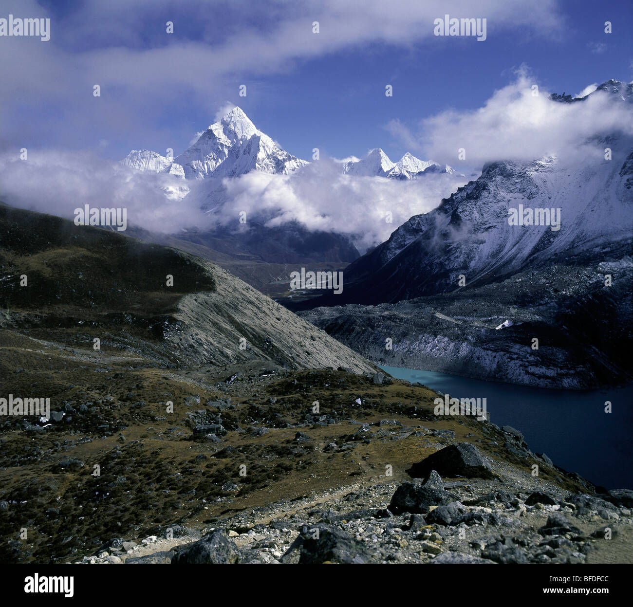 Lhotse himal - Stock Image