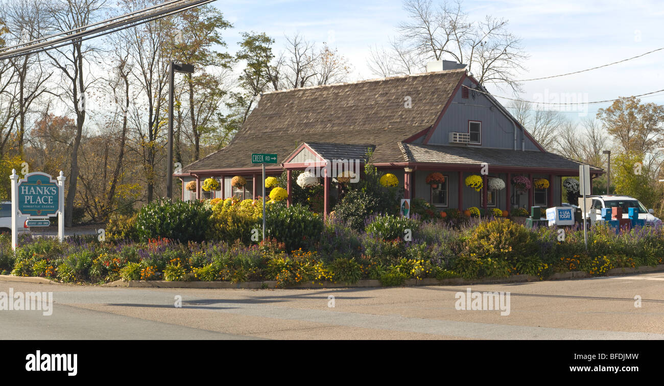 Hank's Place, a Chadds Ford family restaurant known for home style cooking and good food - Stock Image