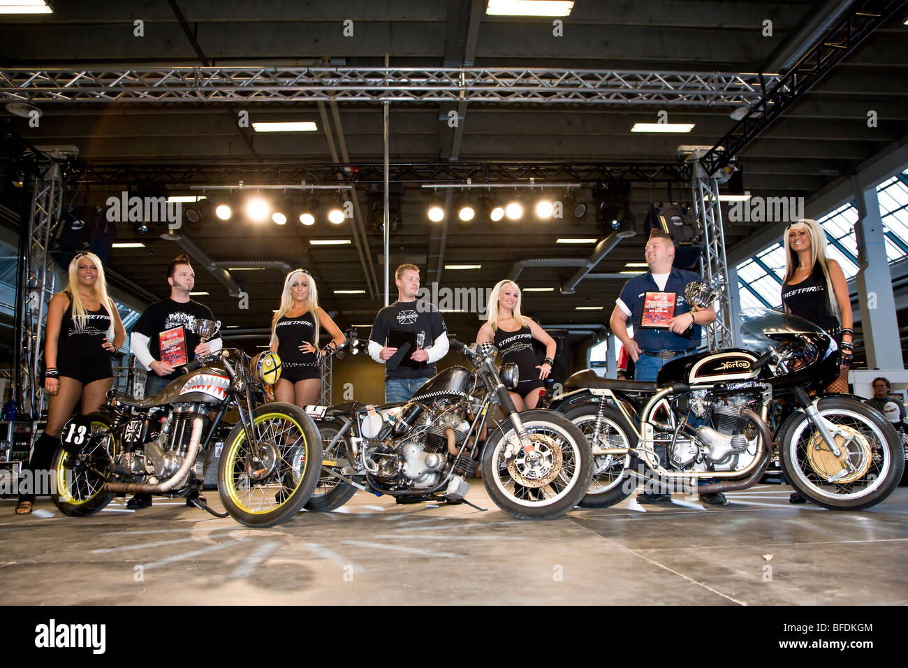 The winners in the Best British category at Scandinavian Custom Show in Bella Centret Copenhagen - Stock Image