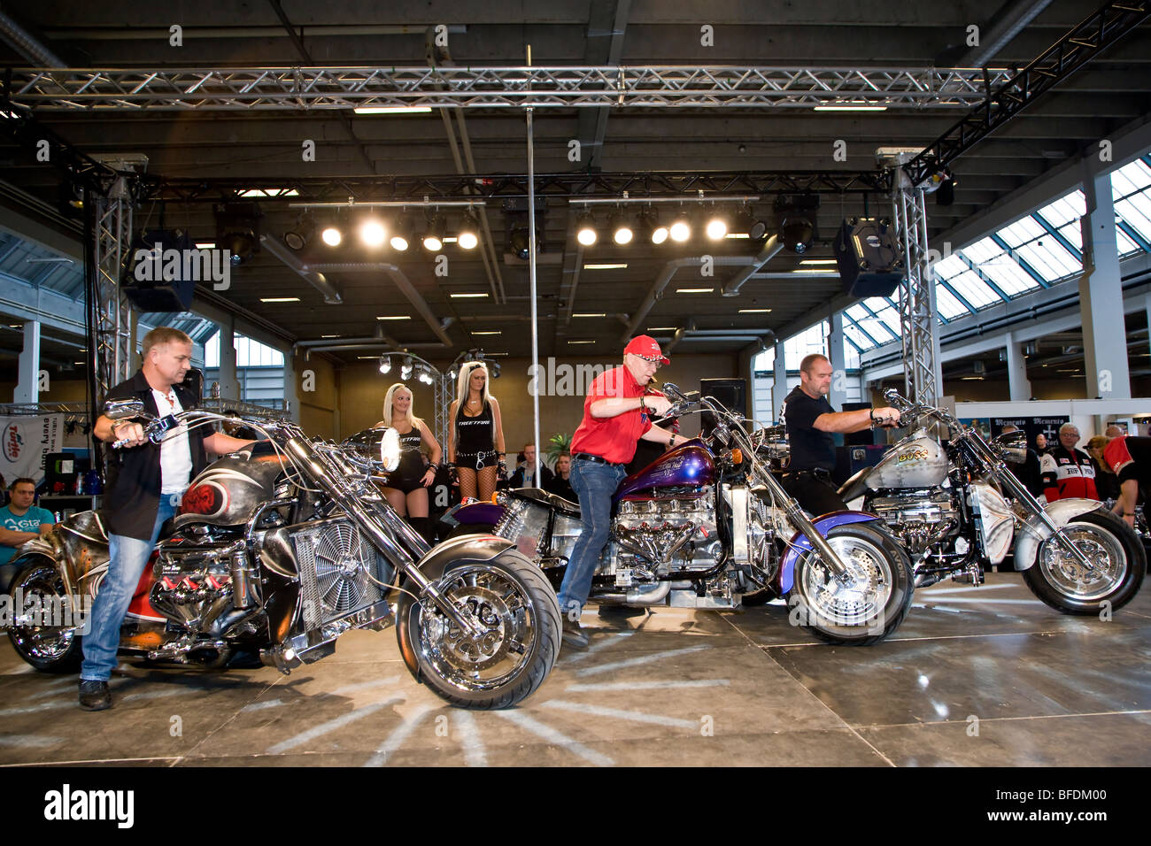 The winners in the Best Cruiser category at Scandinavian Custom Show in Bella Centret Copenhagen - Stock Image