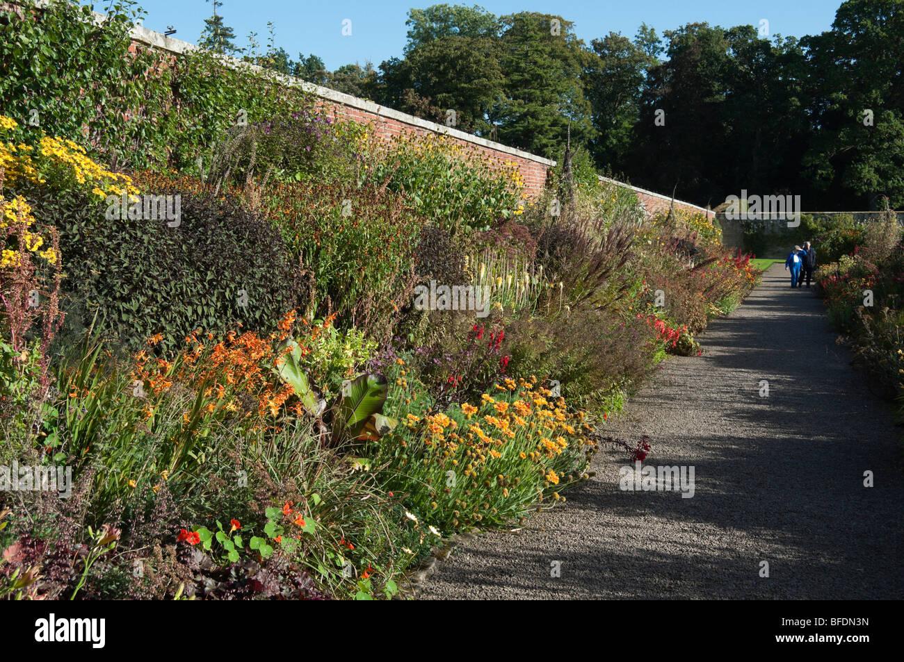 Floors Castle Kelso Roxburghshire Scotland the garden centre flower ...