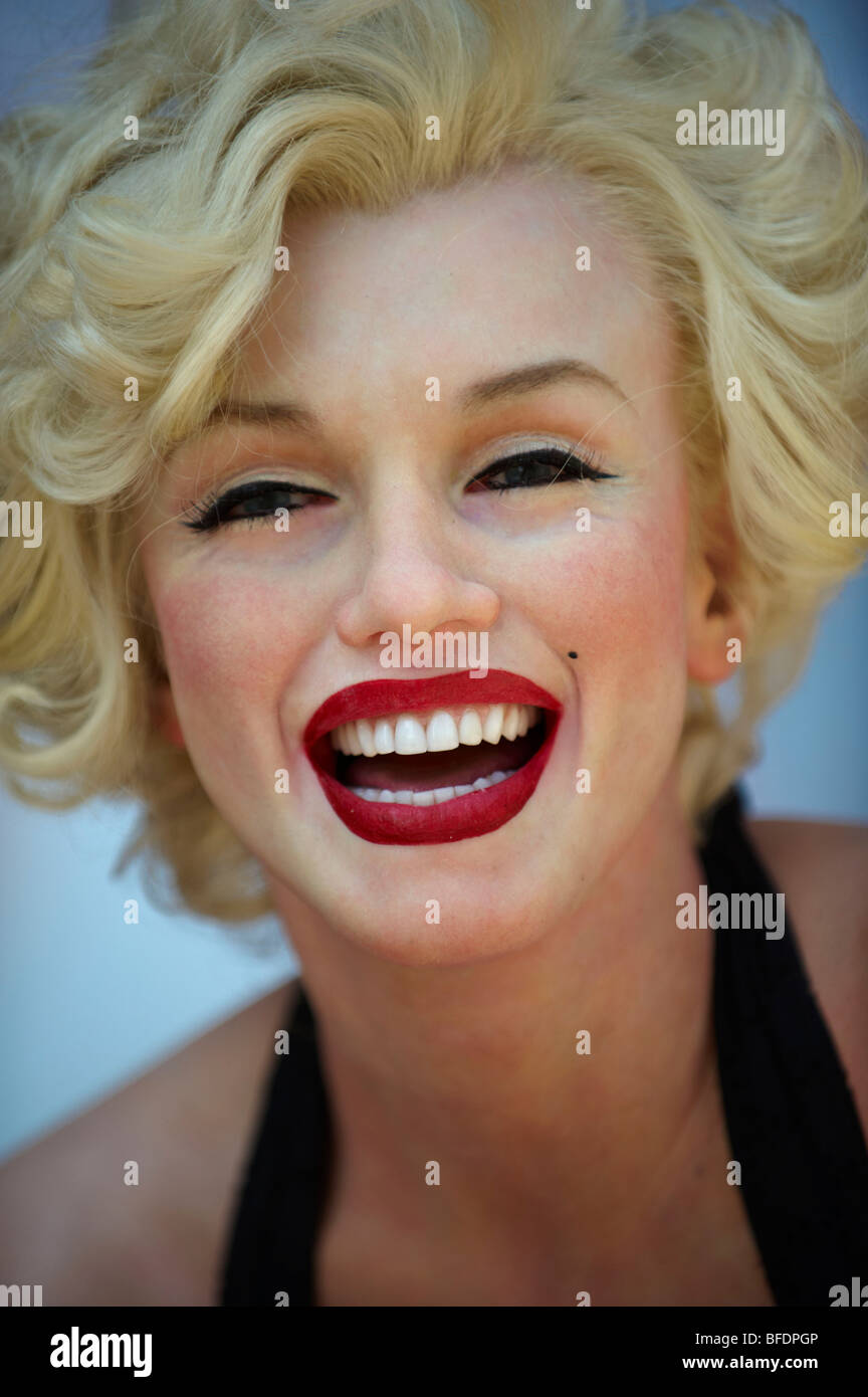 Marilyn Monroe Wax Model Hollywood California USA - Stock Image