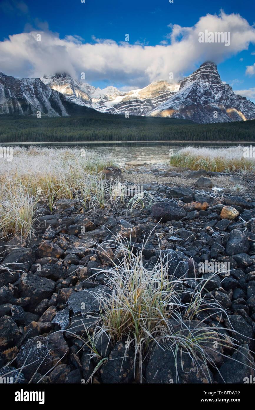 Mount Chephren and Upper Waterfowl Lake, Banff National Park, Alberta, Canada - Stock Image