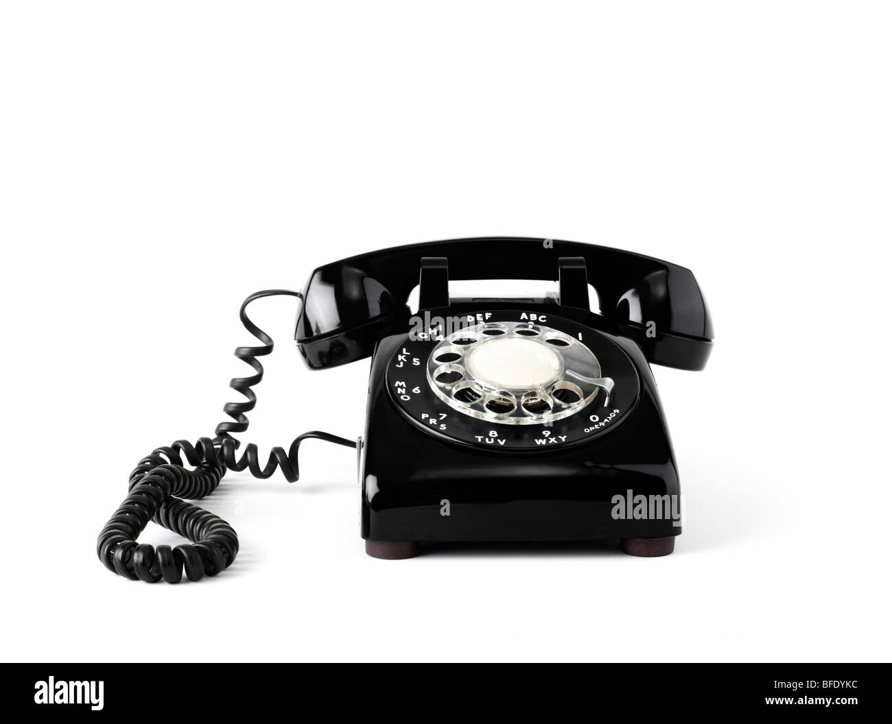 Old fashion rotary telephone - Stock Image