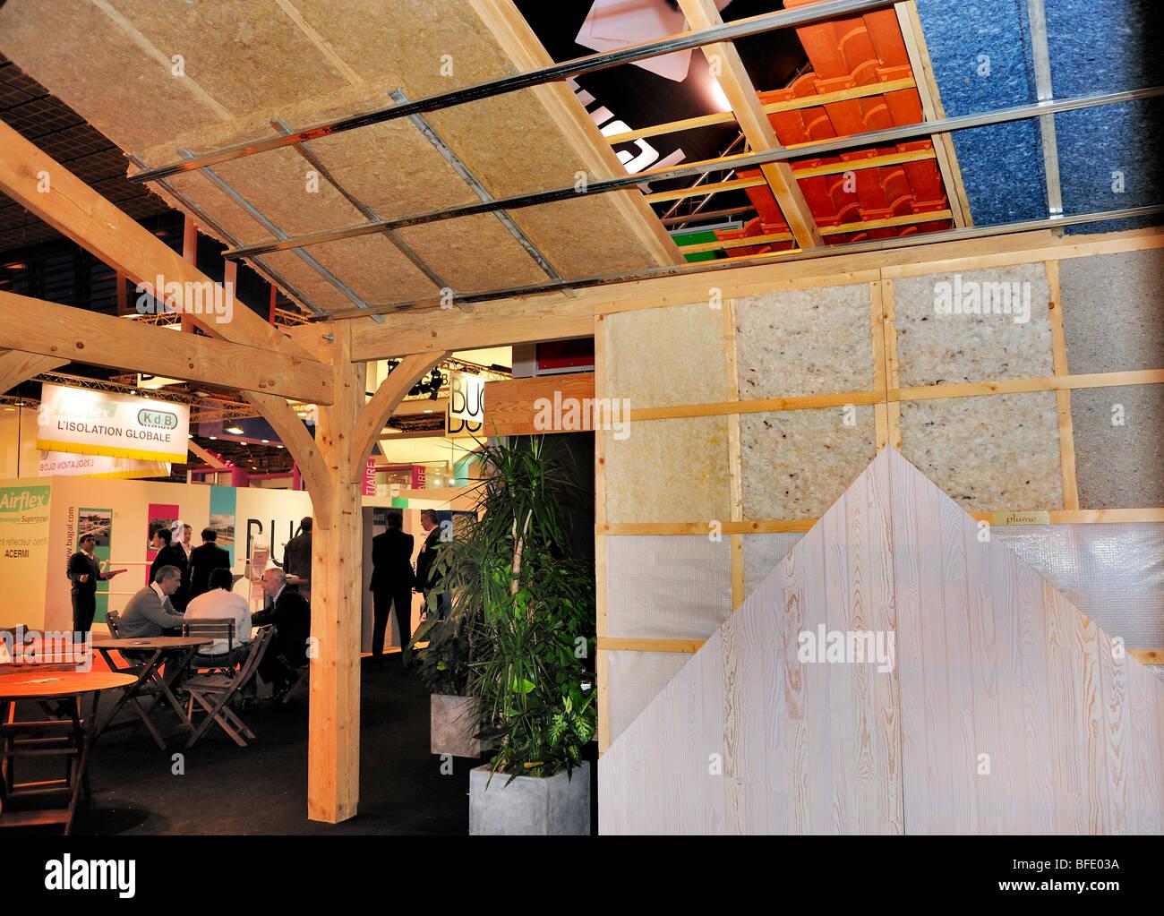 Paris, France, Construction Equipment 'Trade Show', 'Salon Batimat', House Insulation Company In - Stock Image