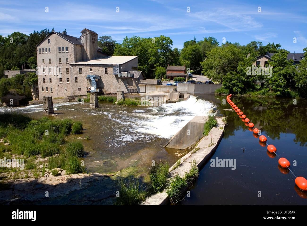 Elora Mill Inn, Elora, Ontario, Canada - Stock Image