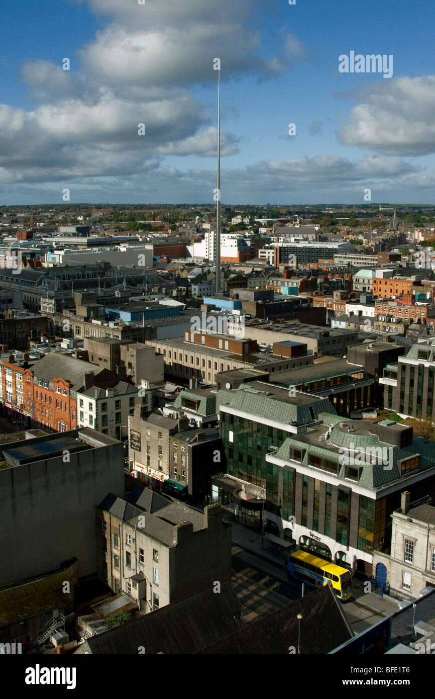 Dublin Skyline featuring Millenium Spire (also known as the 'Monument of Light' or 'Spire of Dublin') - Stock Image