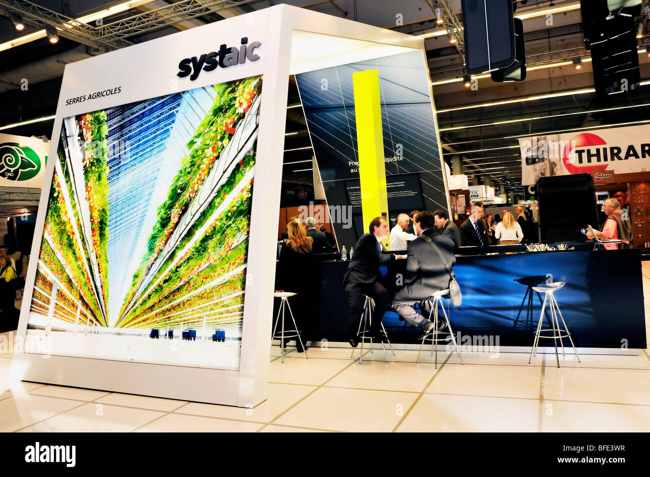 Paris, France, Construction Equipment Trade Show, 'Solar Energy', 'Agricultural Greenhouses', solar - Stock Image
