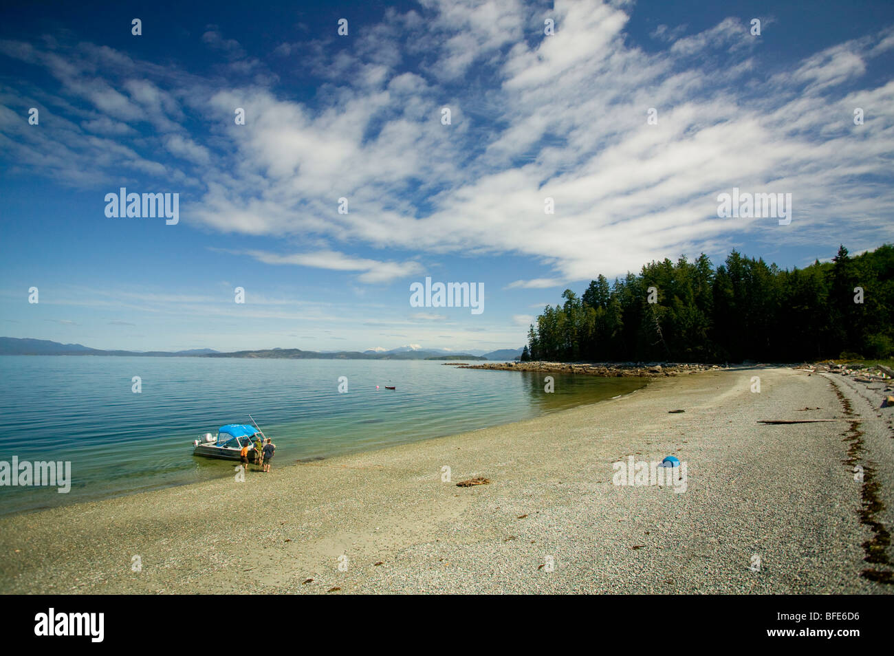 Marina Island, a few minutes away from Cortes Island by boat, Marina Island, Discovery Islands, British Columbia, - Stock Image
