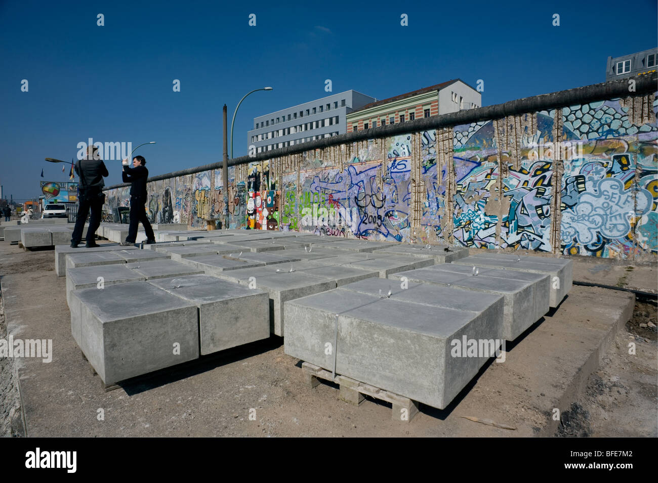 Berlin 2009,East Side Gallery,1989 DDR Germany Unified positive forward history War Cold War end East West Divide - Stock Image