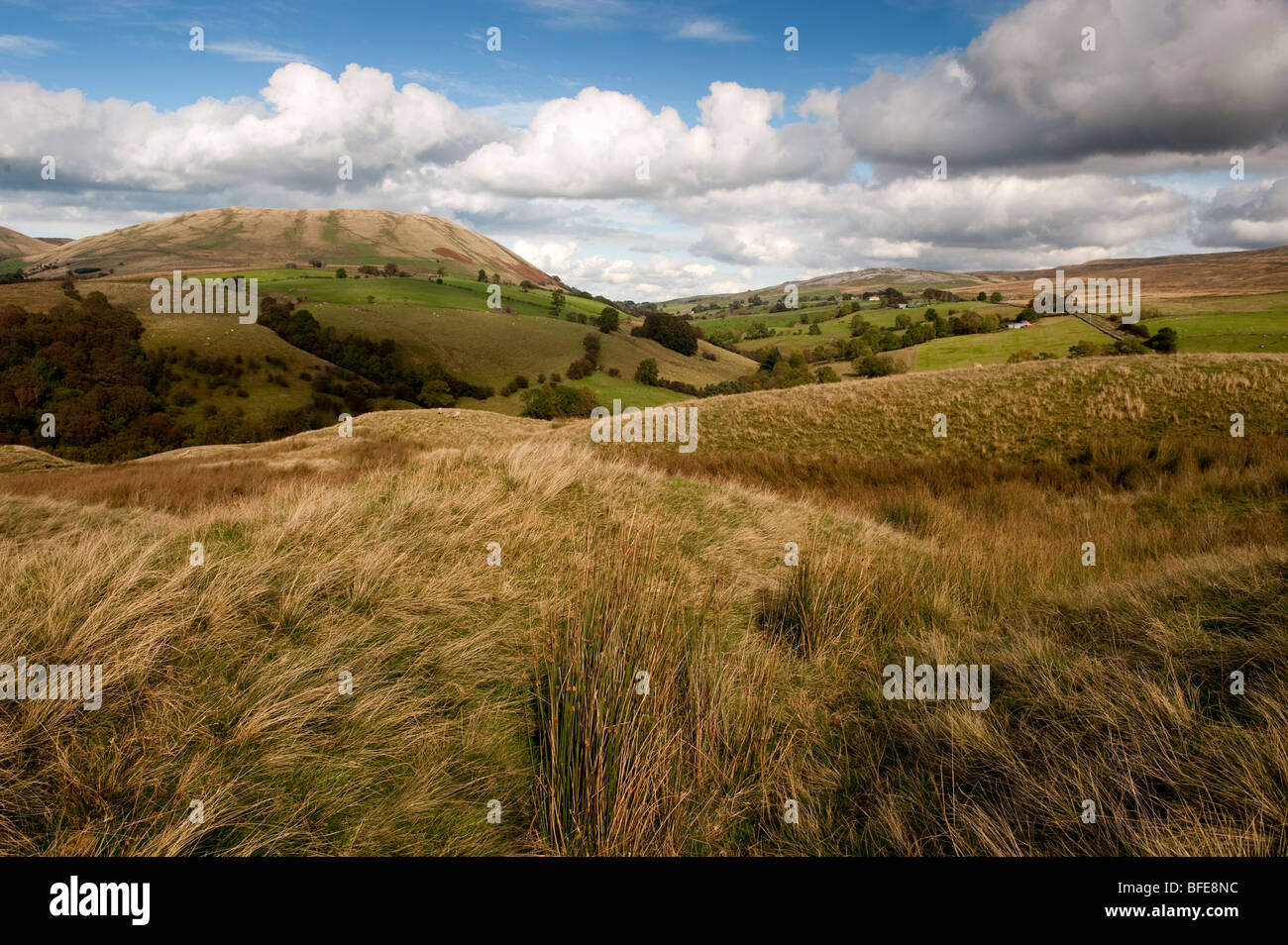 Harter Fell from Bluecaster, in the Howgills. Cumbria - Stock Image